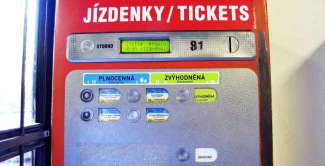 Como usar o metrô de Praga - Mais detalhes da máquina de compra de passes