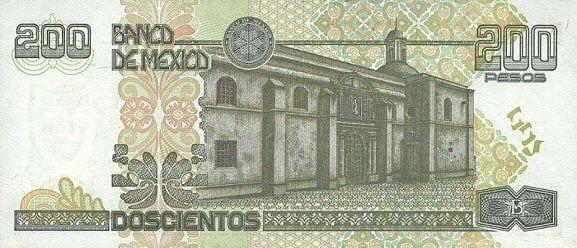 Qual moeda levar para o México - 200 pesos trás modelo antigo