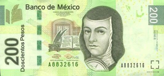 Qual moeda levar para o México - 200 pesos frente modelo novo