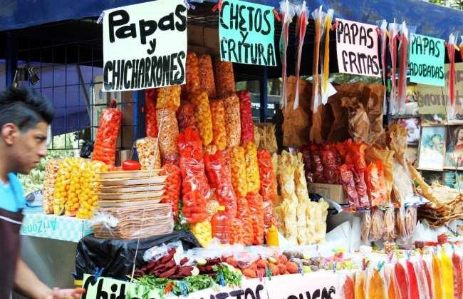 Roteiro pelo Bosque de Chapultepec - Comida na feira livre