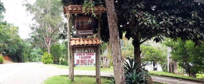 Montanhas - Entrada para a Fazenda da Família Busato