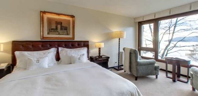 Ode ficar em Bariloche: os melhores hotéis - El Casco Art Hotel vista do quarto