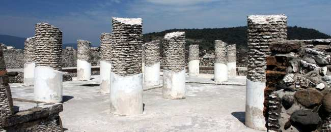 Pirâmides de Tula no México - Grande Vestíbulo