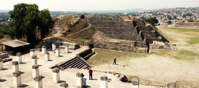 Pirâmides de Tula no México - Vista geral