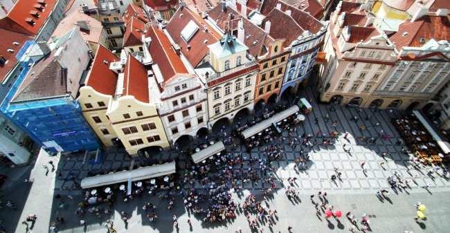 Relógio Astronômico de Praga - Vista do alto da torre da Old Town Hall
