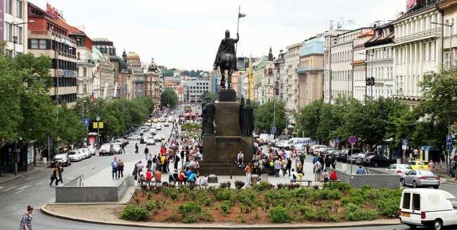 Praça Venceslau de Praga - Estátua do Venceslau 1
