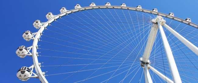 Las Vegas The LINQ - High Roller vista de baixo