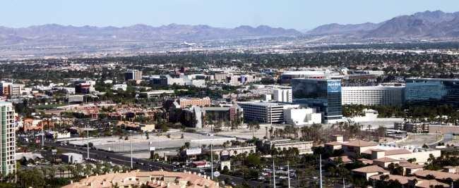 Las Vegas The LINQ - vista do alto da High Roller roda gigante 2