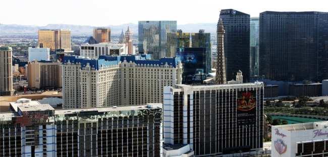 Las Vegas The LINQ - vista do alto da High Roller roda gigante 4
