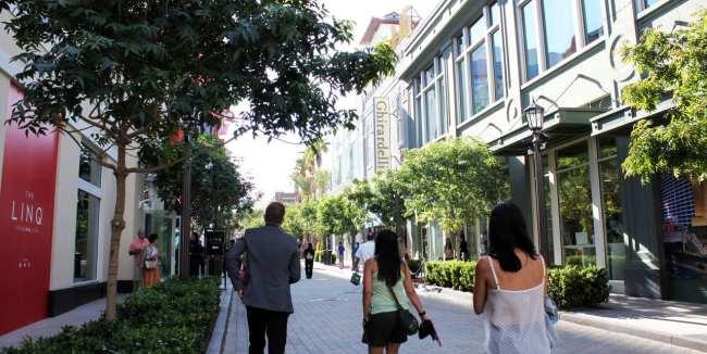 Las Vegas The LINQ - área de lojas e restaurantes
