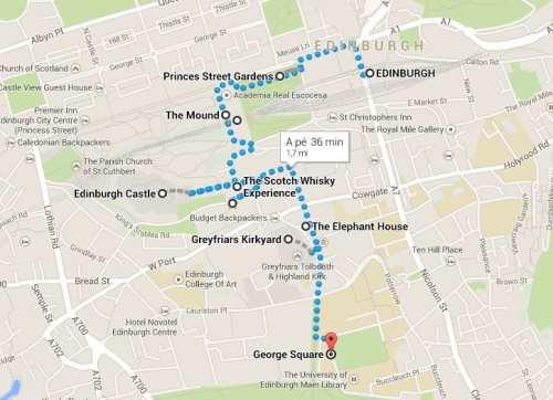 Roteiro de Edimburgo - mapa 2