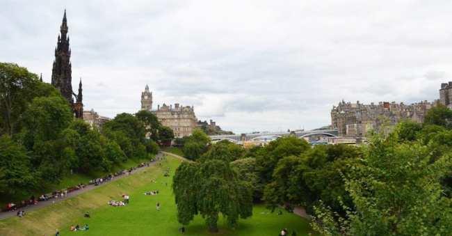 Roteiro de Edimburgo - Parque na Cidade