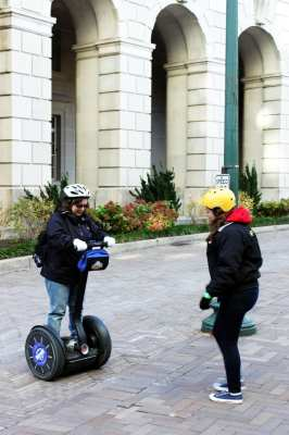 Segway Tour em Washington - Aprendendo a andar 2