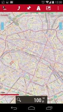 Melhor app de mapas offline - OruxMaps Zoom nível 14