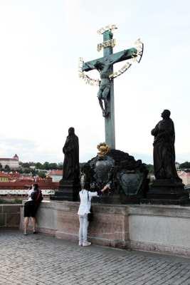 Ponte Carlos em Praga - Escultura 2