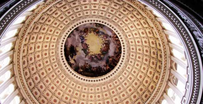 Capitólio de Washington - Pintura da Cúpula