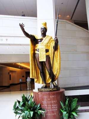 Capitólio de Washington - Estátuas dos estados no Visitor's center Kamehameha I