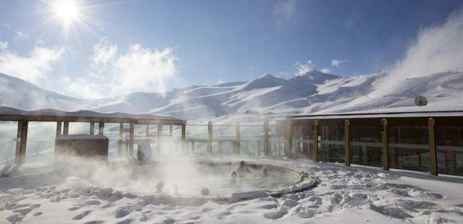 Guia de Valle Nevado - Piscina aquecida ao ar livre