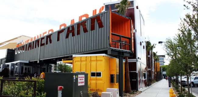 Walking Tour Downtown Vegas - Container Park