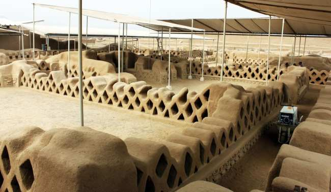 Chan Chan Patrimônio da Unesco - Interior sendo restaurado 6