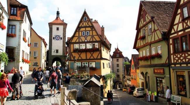 Rothenburg - Plönlein a foto mais famosa da cidade