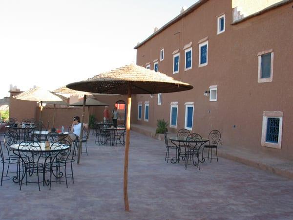 Terraço do Dar Mouna, de onde se vê o casbá