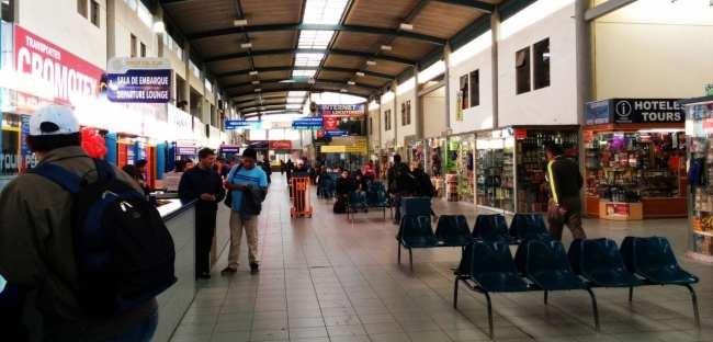 Viajar de ônibus no peru - Terminal de ônibus de Arequipa