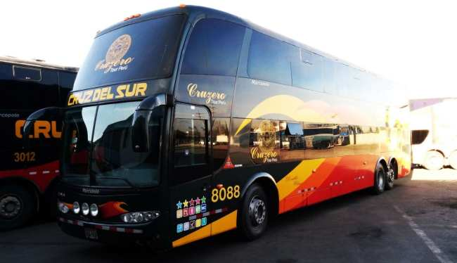Viajar de ônibus no peru - Ônibus Cruz del Sur