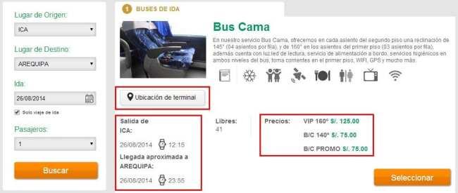 Viajar de ônibus no peru - Site Oltursa 2