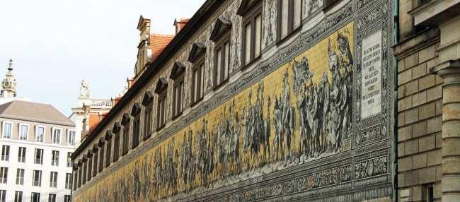 Dicas de viagem a Dresden - Cidade Velha Alstadt  Procession of Princes 1