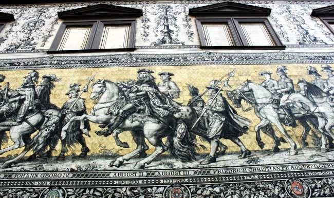 Dicas de viagem a Dresden - Cidade Velha Alstadt  Procession of Princes 2
