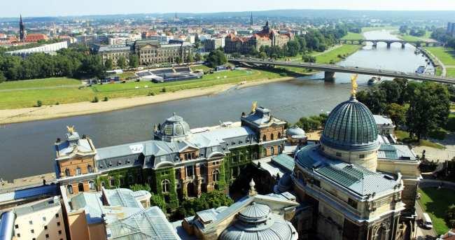 Dicas de viagem a Dresden - Cidade Velha Alstadt Vista do alto da Frauenkirche