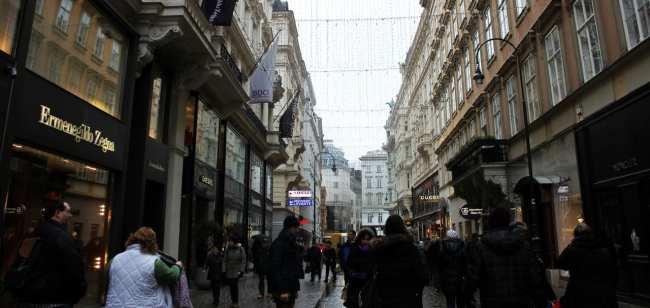 Guia KLM de Viena - Rua de compras