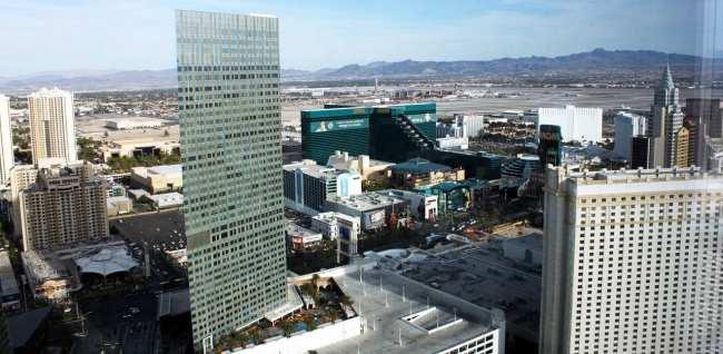 Onde ficar em Las Vegas - MGM Ao fundo