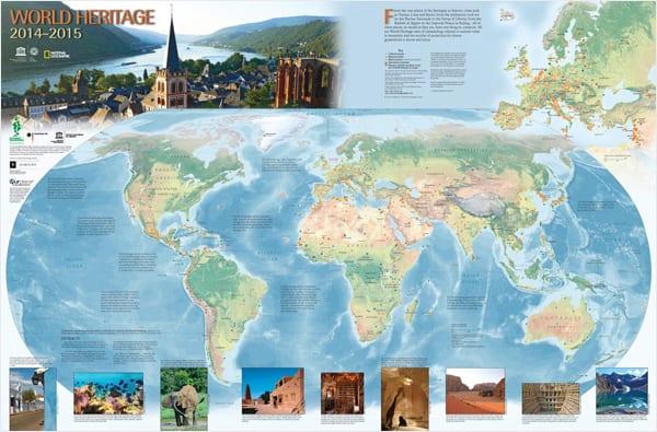 Mapa Unesco Patrimônios