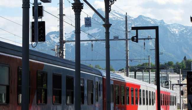 Dicas para viajar de trem na Alemanha - Estação de Salzburg Áustria