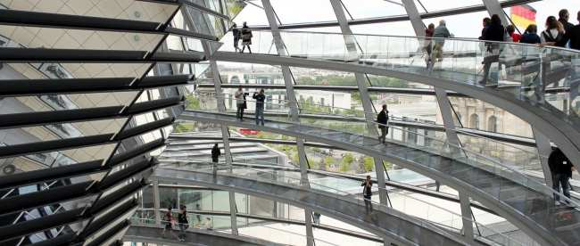 Bus 100 City Tour em Berlim - Reichstag/Bundestag