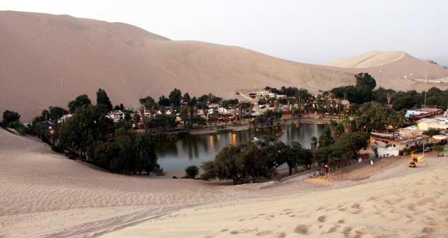 Dicas de Huacachina-Ica-Peru - o oásis visto de cima