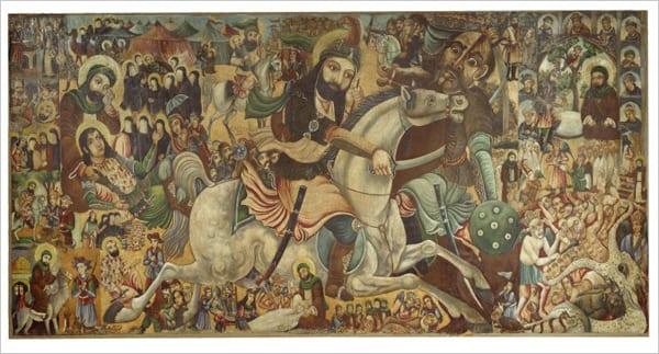 A Batalha de Kerbala, de Abbas Al-Musavi, em exposição no Brooklyn Museum (Domínio público)