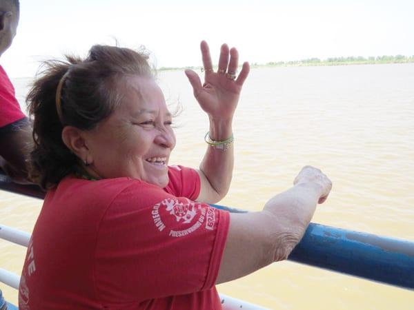 Dona Vitória, uma mãezona no barco