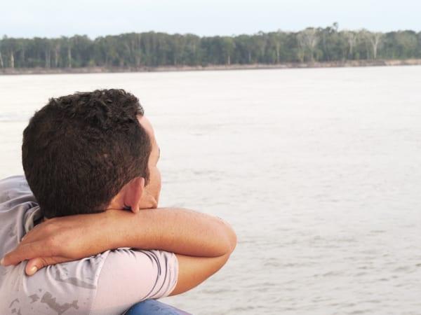 Contemplação da paisagem, uma das atividades mais exercidas no barco