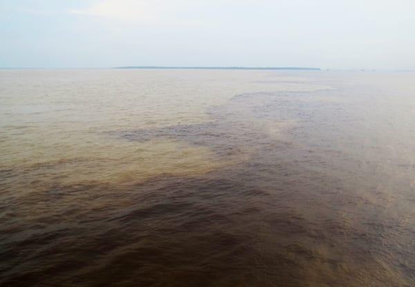 O encontro das águas, marcando o fim da viagem