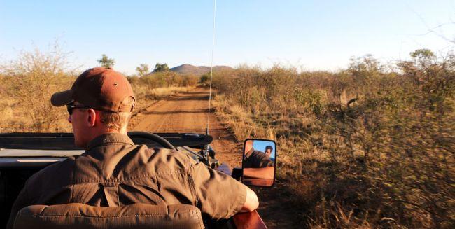 Fazer safari na África - estrada