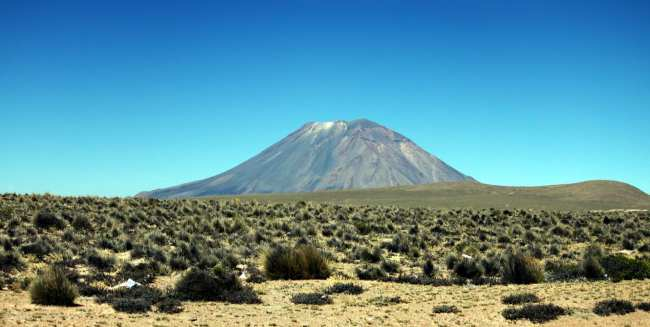 Tour pelo valle del Colca - Arequipa - vulcão