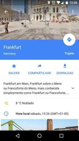 Novo Google Maps com mapas offline - 13