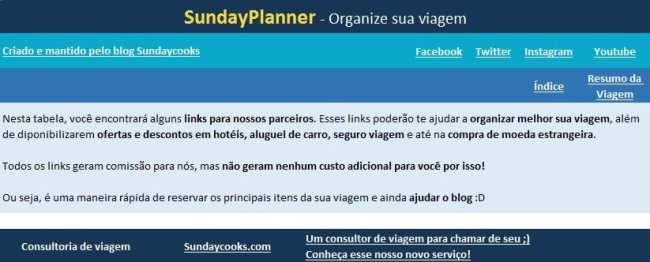 Planilha de gastos de viagem SundayPlanner - 3