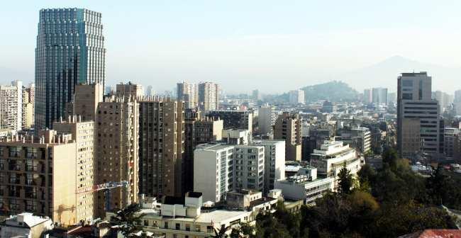 Onde ficar em Santiago - vista do centro