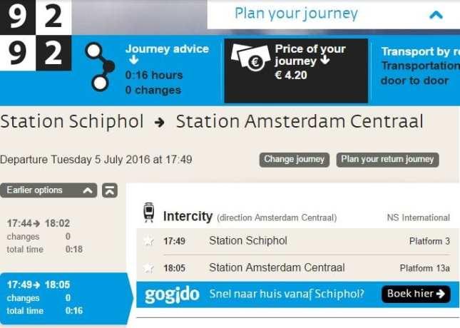 Amsterdam - como ir do aeroporto ao centro da cidade - 6