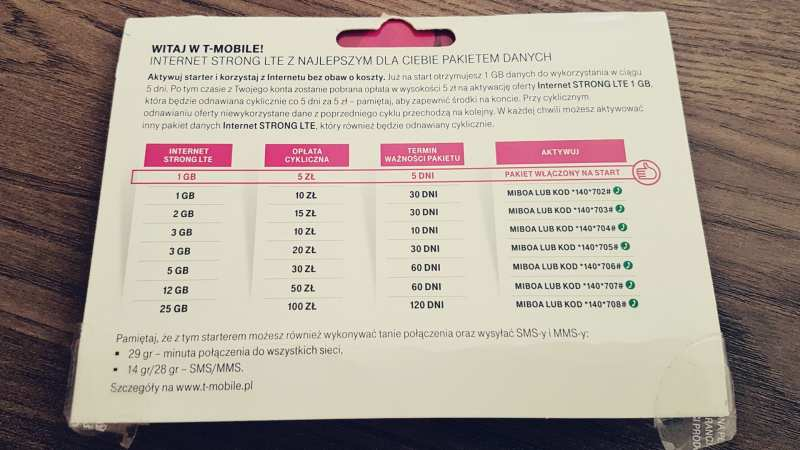 chip internet celular 3g/4g barato na Polônia - 03
