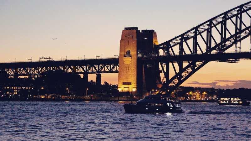 De onde ber a baía de Sydney do alto - 01